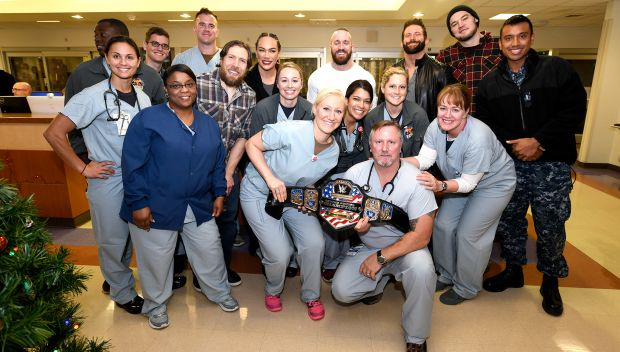WWE Superstars visit U.S. service members at Naval Medical Center San Diego: photos