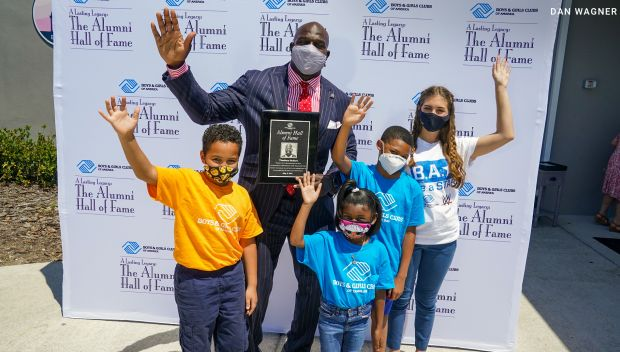 Titus O'Neil is inducted into the Boys & Girls Clubs of America Alumni Hall of Fame