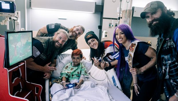 Superstars visit children at The Brooklyn Hospital Center during WrestleMania Week: photos