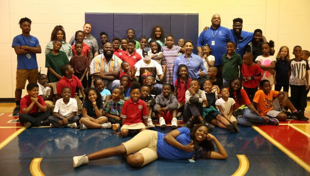 WWE Superstars visit the Smith Community Center in Orlando: photos