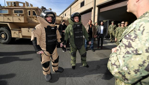 WWE Superstars tour the Explosive Ordinance Disposal unit at Naval Station North Island: photos