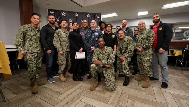WWE Superstars greet service members and their families during WWE Tribute to the Troops 2017: photos