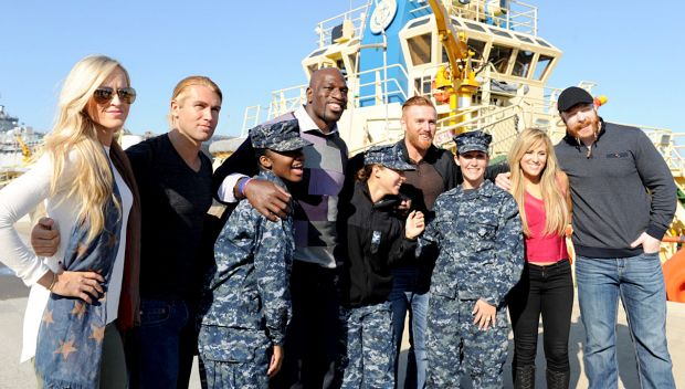 WWE Superstars and Divas tour the harbor at Naval Station Mayport