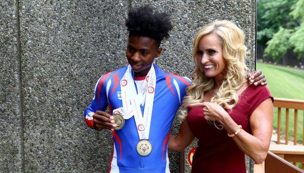 Celebrating Champions: Special Olympics speedskater Cornell Gray: photos