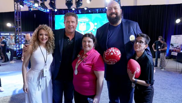 Big Show & Special Olympics join Super Bowl Radio Row: photos