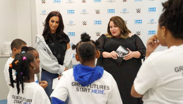 WWE Superstars & actress Chrissy Metz host a WrestleMania Be a STAR rally in Brooklyn: photos