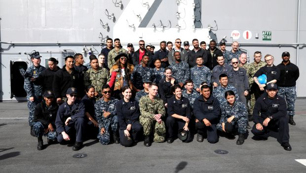 WWE Superstars tour the USS Boxer at Naval Base San Diego: photos