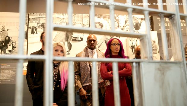 Superstars visit the National Civil Rights Museum: photos