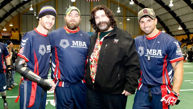 Mick Foley appears at the Wounded Warrior Amputee Football Game: photos