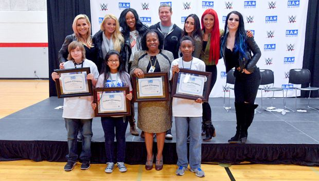 WWE hosts a Be a STAR rally at Mayport Middle School