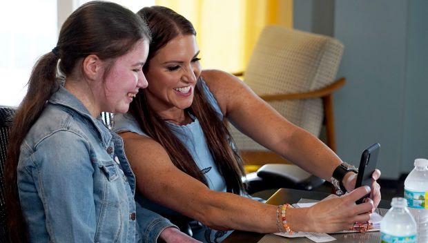 Stephanie McMahon grants Rhianna's wish at the WWE Performance Center: photos