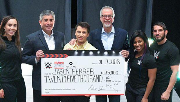 WWE awards $25,000 scholarship to Full Sail University student
