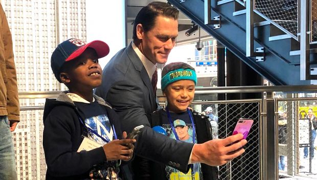 John Cena lights up the Empire State Building with Make-A-Wish kids in New York City