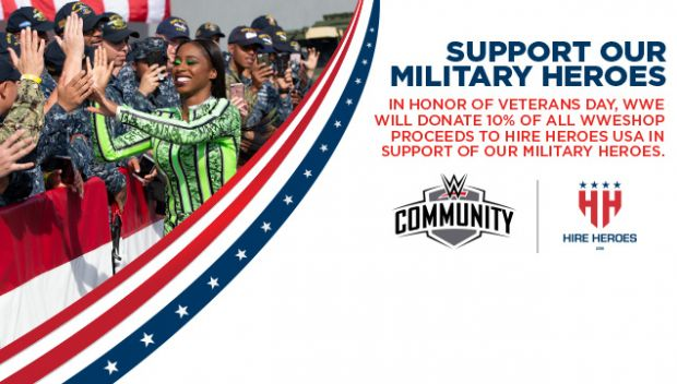 Help support Hire Heroes USA with WWE this Veterans Day