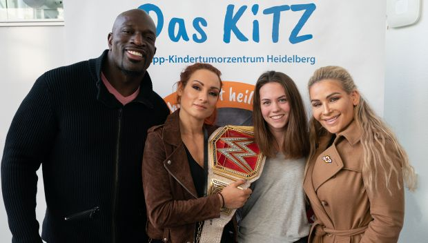 WWE and KiTZ Heidelberg join forces in the fight against pediatric cancer
