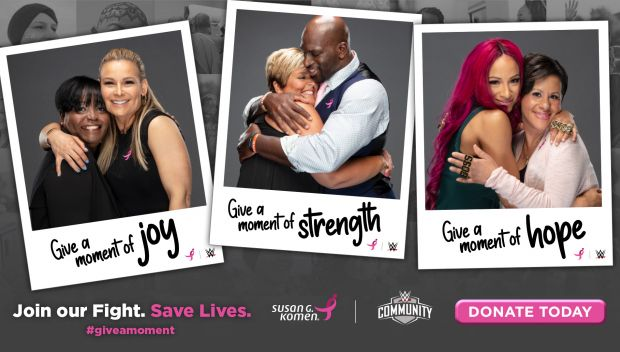 WWE and Susan G. Komen ask WWE Universe to give a moment