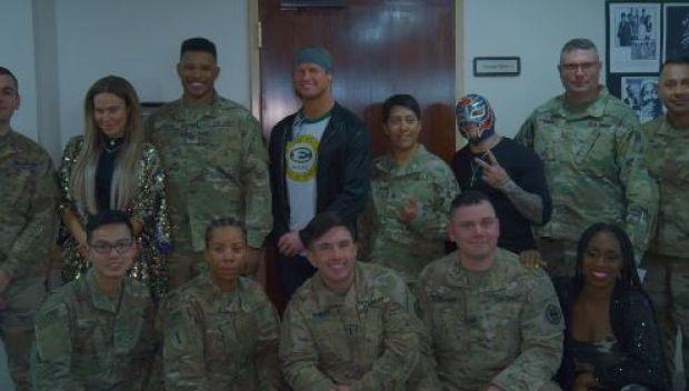 Superstars visit U.S. Air Force Base in Riyadh