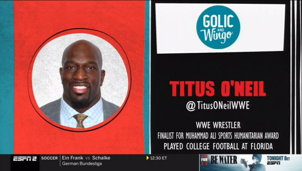 Titus O'Neil discusses his ESPYS Sports Humanitarian of the Year nomination