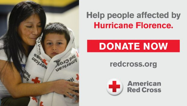 Support American Red Cross and their mission to help people affected by Hurricane Florence