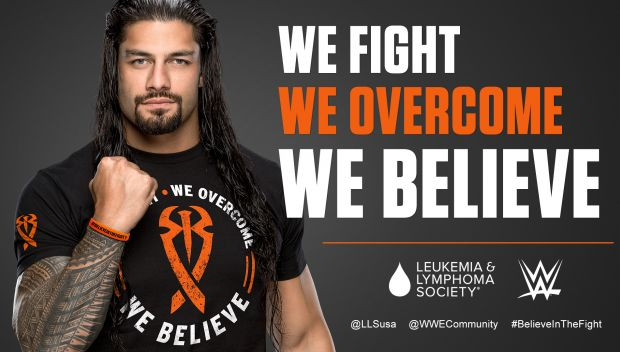 WWE and Roman Reigns teaming up with The Leukemia & Lymphoma Society
