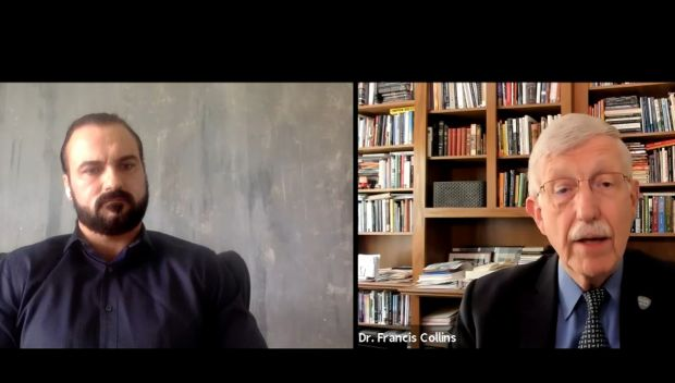 Drew McIntyre discusses COVID-19 vaccines with Dr. Francis Collins of the NIH