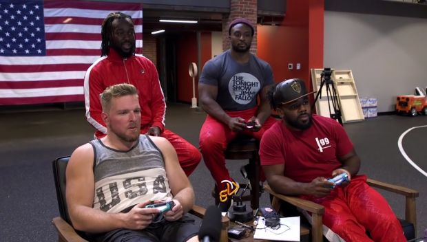 Pat McAfee challenges The New Day for a $10,000 donation to Connor's Cure