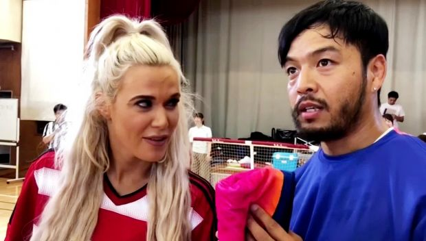 Lana and Hideo Itami coach Special Olympics teams in Tokyo