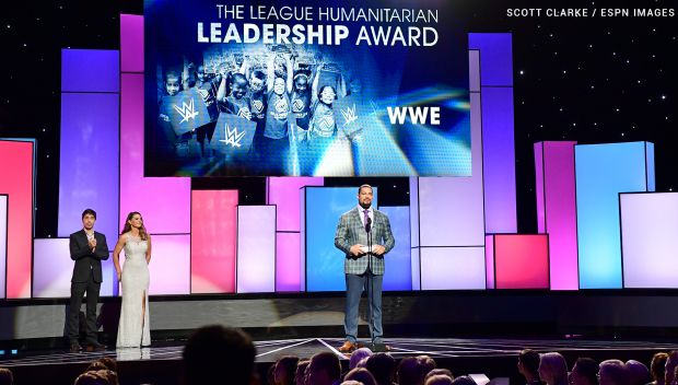 WWE receives ESPN's League Humanitarian Leadership Award