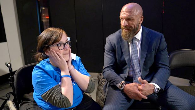 Watch Triple H's meeting with Make-A-Wish's Faith on The Road to WrestleMania