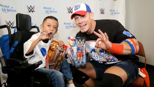 "Make-A-Wish's Alex ""The Bulldog"" creates a custom John Cena Mattel action figure"