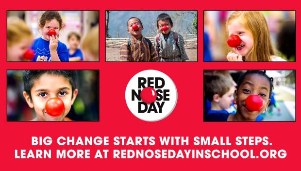 WWE Superstar Bayley supports the Red Nose Day School Challenge