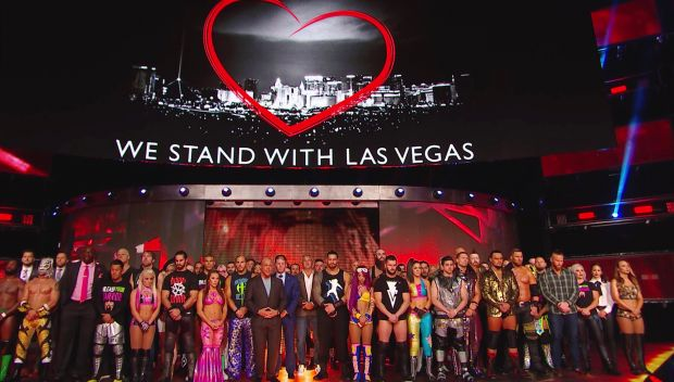 WWE holds a moment of silence in remembrance of those lost in the Las Vegas tragedy: Raw, Oct. 2, 2017