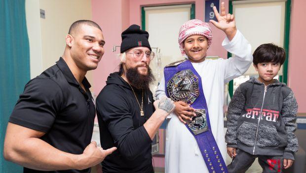 Enzo Amore and Jason Jordan visit Shaikh Khalifa Medical City