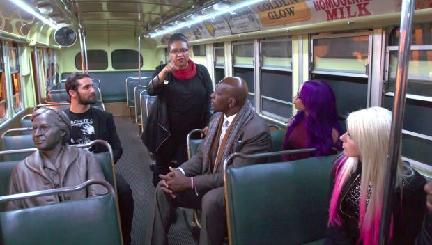 Raw Superstars visit the National Civil Rights Museum in honor of Martin Luther King Jr. Day