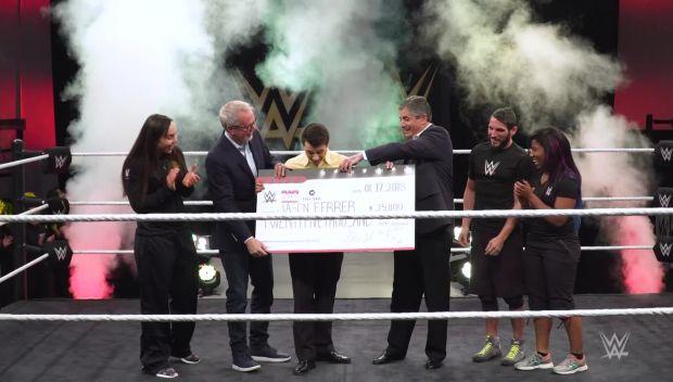 WWE presents $25,000 scholarship to Full Sail University's Jason Ferrer