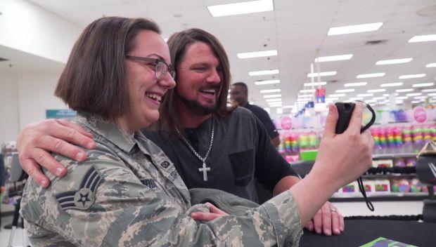 AJ Styles visits Luke Air Force Base on behalf of Cricket Wireless