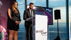 Sami Zayn and Nia Jax present the Courageous Use of Sport Award at the Beyond Sport Global Awards