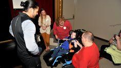 Roman Regins greets Noah and his family before Raw in Birmingham, Ala.
