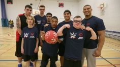 Superstars coach in Special Olympics Played Unified basketball game in Sheffield, England