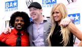 Sheamus (who is sporting a new look), joins NXT Superstar Xavier Woods and NXT and WWE Diva Summer Rae at a Be a STAR rally.