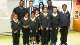 Big E, Paige and Kofi Kingston host a Be a STAR rally for students in London.
