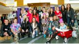 Stephanie McMahon, Daniel Bryan, Brie Bella, Paige, R-Truth and Sin Cara visit Children's Hospital of Pittsburgh.