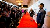 Darren Young (Fred Rosser) walks the red carpet at the 25th Annual GLAAD Media Awards in New York City.