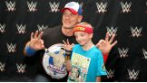 Deegan, 6, meets John Cena before Raw in Oklahoma City.