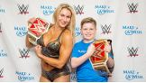 Carter from Make-A-Wish is excited to meet Raw Women's Champion Charlotte.