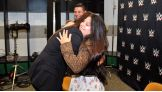 Triple H and Stephanie McMahon greet Kenia, 17, and her family at WWE TLC: Tables, Ladders & Chairs.