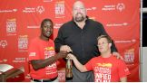 Big Show helps kick off the Special Olympics Unified Relay Across America in Miami.