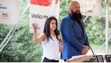 Bayley and Big Show appear at the Special Olympics Connecticut opening ceremonies to honor individual with the Hero Recognition Awards.