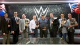 WWE honors U.S. Veteran employees Bryan Rooney, John Scheler, Brad Blum, William Doherty, James Connole, Lance McConomy, Rob Levin and Doug Bell.