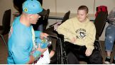 John Cena meets Jacob, 19, from The Granted Wish Foundation.